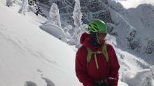 February 19, 2020. Solar triggered sluffs in Glacier Park