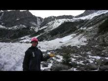 11/28/17.  Avalanche debris at Avalanche Lake