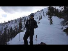 January 30, 2017 - Just a tad windy, Tunnel Ridge, Flathead Range